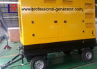 Mobile 300kVA Portable Diesel Generator Set with ATS for Construction , Weichai Power