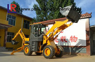 76kw Heavy Construction Machinery , 2500kg Medium backhoe loader with 1m³ bucket