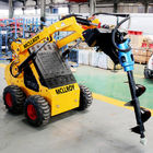 0.15m3 240kgs Mini Skid Steer Loader With Drilling Auger Post Hole Digger