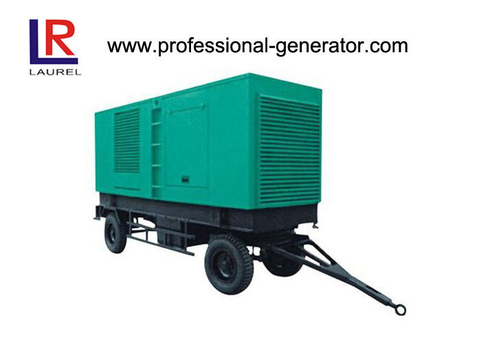 Movable Trailer 20kva - 250kva Diesel Generator Cummins Engine 2 To 6 Wheel