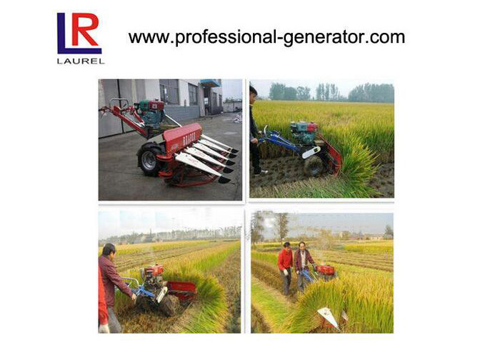 Small Paddy Rice Harvesting Agriculture Harvester For Muddy Land , ISO TUV
