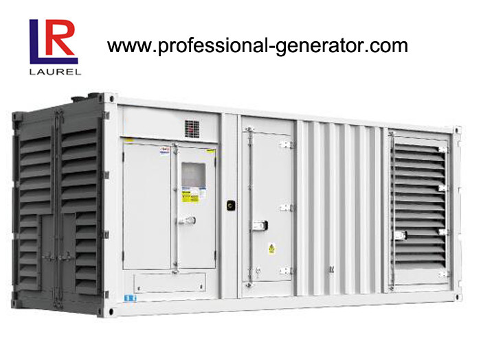 Diesel Generator Container Genset 750KVA  White Cabinet Container