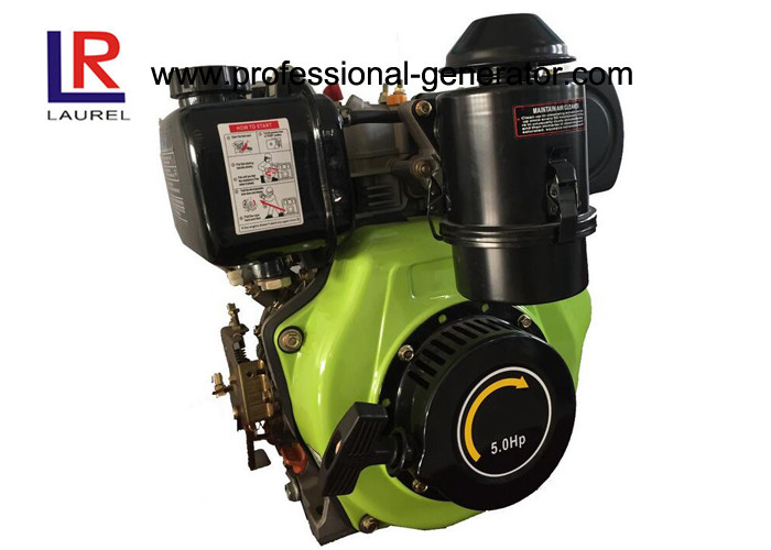 OHV 200CC 4 - Stroke Air - cooled Marine Diesel Engine 5HP Single Cylinder