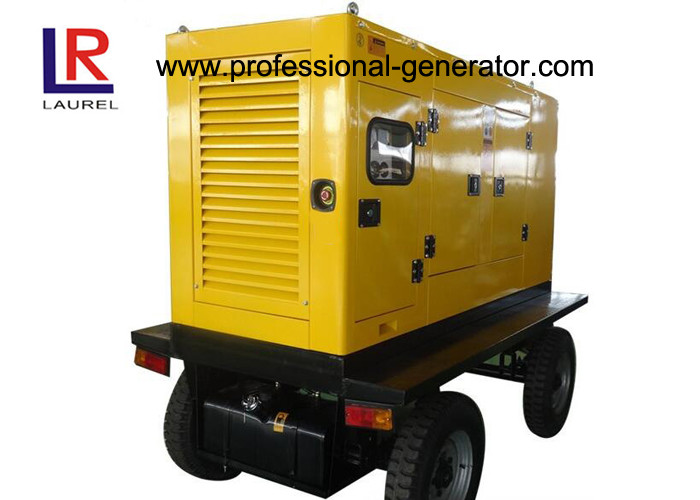 Movable Power Plant Trailer Type Wheel Mobile Power Generator 20kw - 400kw with ISO9001 Approved