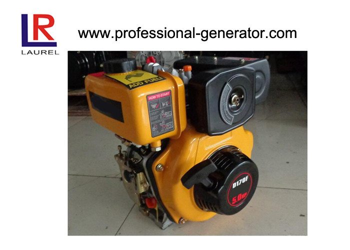 170F Industrial Diesel Engines Single cylinder Vertical 4 stroke Air cooled Manual / Electric start