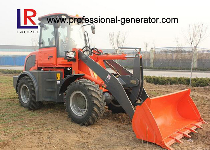 CE 2.5 Ton Strong Power Small Building Loader with Pallet Forks , Front Loader