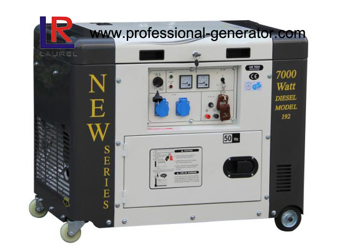 Single Phase 50HZ 6.5kVA Portable Diesel Power Generator With Electric Start